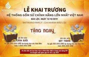 Khuyễn mãi BatTrang Family Bảo Lộc