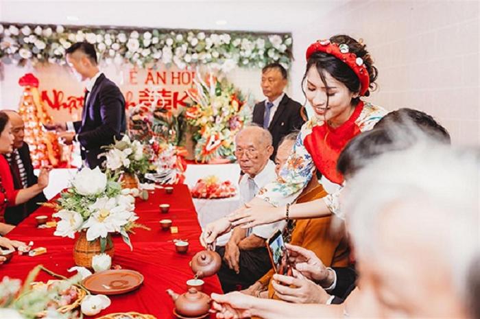 Hình ảnh Lễ ăn hỏi của gia đình 2 họ