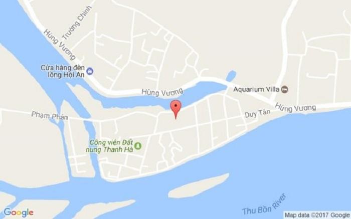 Vị trí của làng gốm Thanh Hà - Hội An