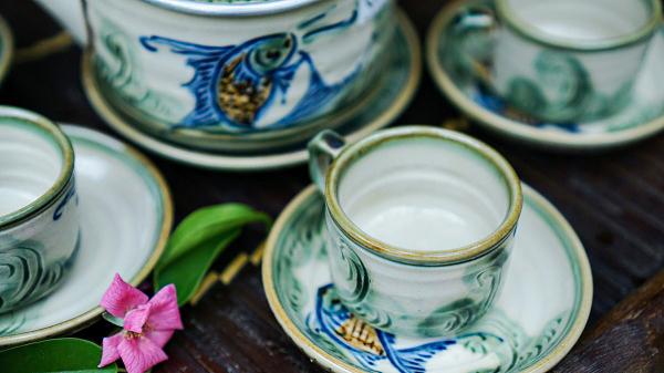 Bộ ấm chén uống trà cá chép