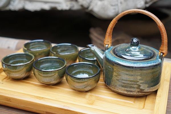 Bộ ấm chén men thiên mụ Tô Thanh Sơn