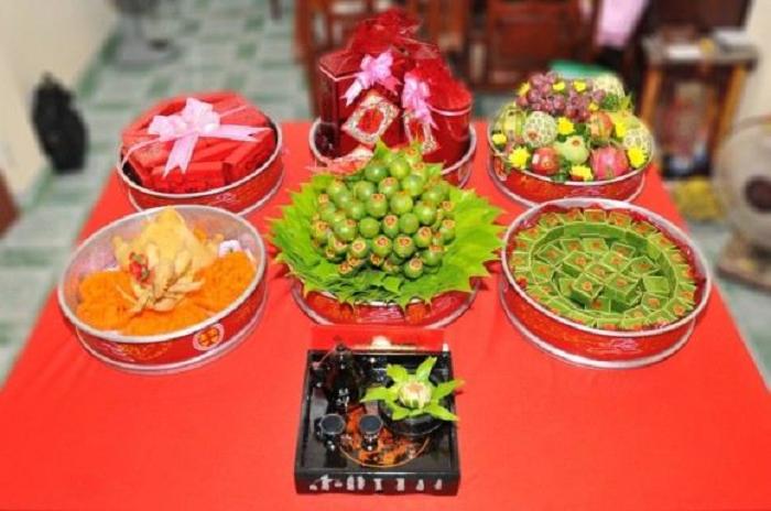 6 mâm quả đám cưới gồm những gì? 3 Miền Bắc - Trung - Nam