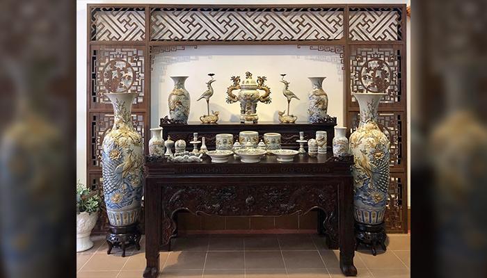 Bộ đồ thờ men rạn bán chạy nhất tại BatTrang Family Bảo Lộc