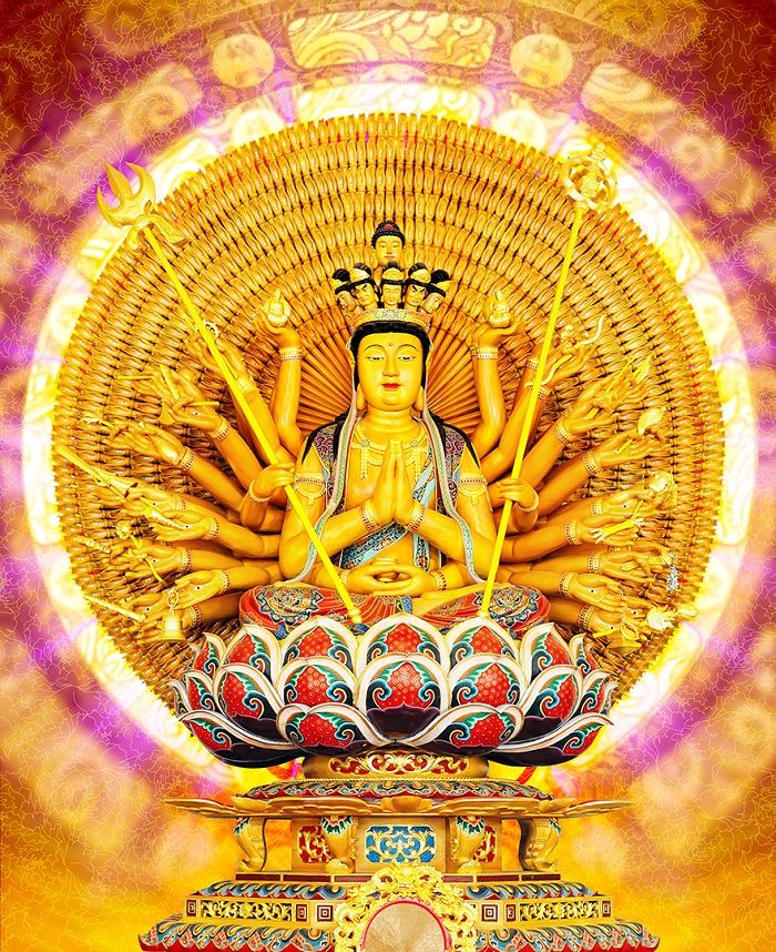 Phật Thiên Thủ Thiên Nhãn – Vị phật hộ mệnh cho người tuổi tý