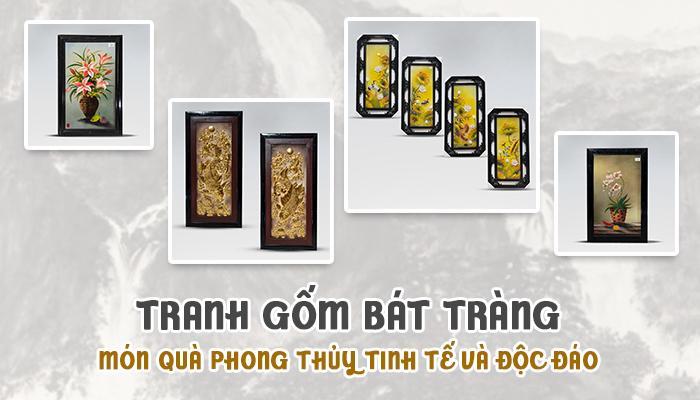 Tranh gốm Bát Tràng – Món quà phong thủy tinh tế và độc đáo